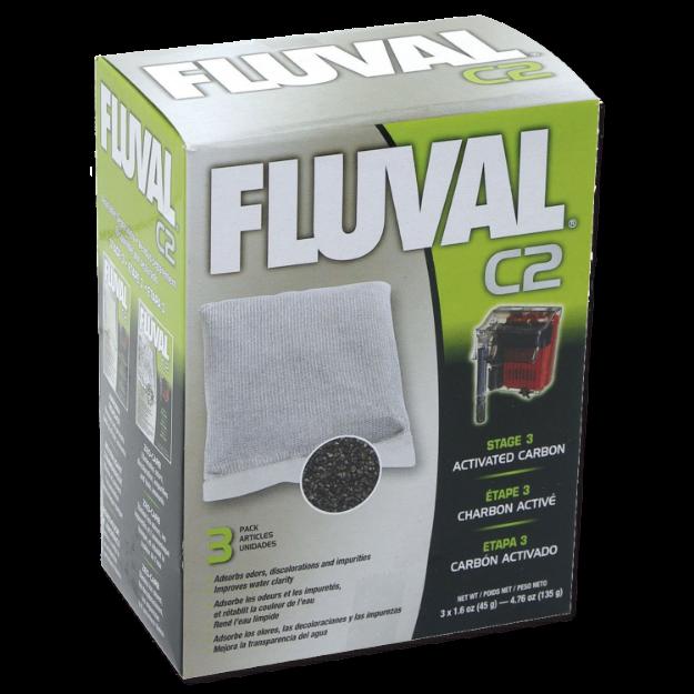Obrázek Náplň sáčky aktivní uhlí FLUVAL C2 3ks