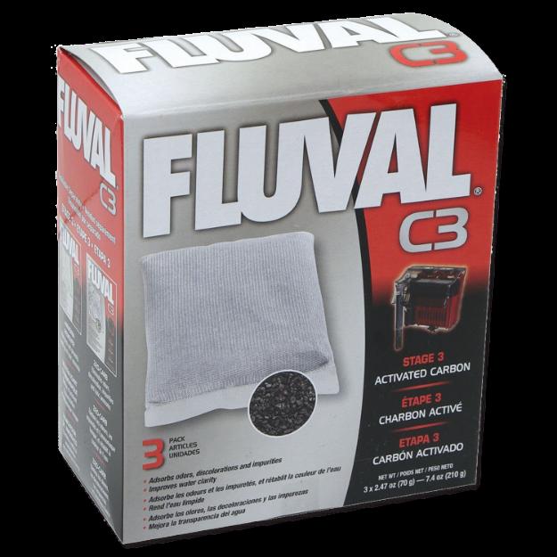 Obrázek Náplň sáčky aktivní uhlí FLUVAL C3 3ks
