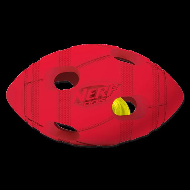 Obrázek Hračka NERF gumový rugby míč LED 13,5 cm