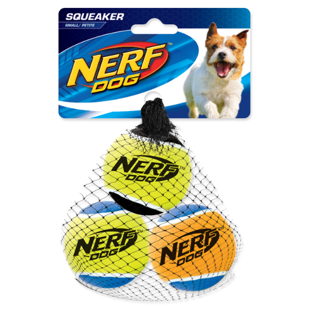 Obrázek Hračka NERF tenisák pískací 5cm 3ks
