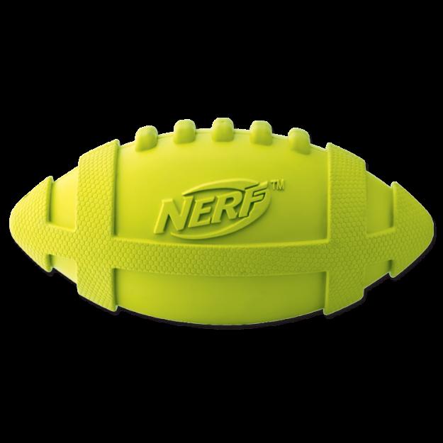Obrázek Hračka NERF gumový rugby míč pískací 17,5 cm